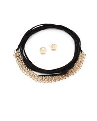 Gemma Simone | Metallic Wrap-and-tie Necklace | Lyst
