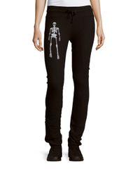 Wildfox   Black Skeleton Skinny Pants   Lyst
