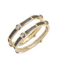 Saks Fifth Avenue - Metallic Embellished Bracelet - Lyst