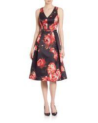 Teri Jon | Multicolor Sleeveless Floral Dress | Lyst