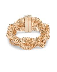 Saks Fifth Avenue | Metallic Braided Mesh Bracelet | Lyst