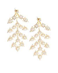 Noir Jewelry | Metallic Bristol Cubic Zirconia & 18k Gold-plated Chandelier Earrings | Lyst