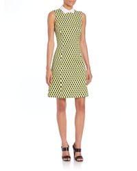 Michael Kors   Green Geo-print A-line Dress   Lyst