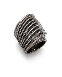 Noir Jewelry - Multicolor Slip-on Faceted Crystal Ring - Lyst
