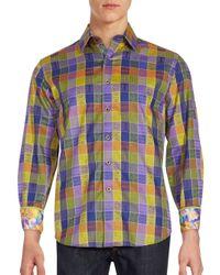 Robert Graham | Blue Smooth Stones Long Sleeve Shirt for Men | Lyst