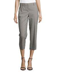 Donna Karan | Gray Pale Cropped Pants | Lyst
