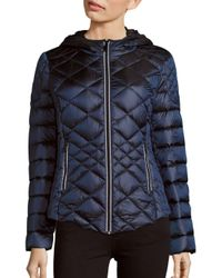 Saks Fifth Avenue | Blue Missy Diamond Quilted Puffer Jacket | Lyst