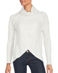 Sweet Romeo   Gray Asymmetrical Ribbed Pullover   Lyst