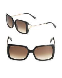 Tod's   Black 57mm Square Sunglasses   Lyst