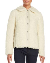 See By Chloé | White Faux Fur Long Sleeve Coat | Lyst