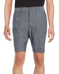 Original Penguin | Blue Cactus Printed Cotton Shorts for Men | Lyst
