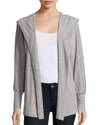 Nanette Lepore | Gray Open Front Heathered Jacket | Lyst