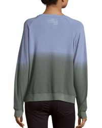 Peace Love World - Blue Long Sleeve Ombre Tee - Lyst