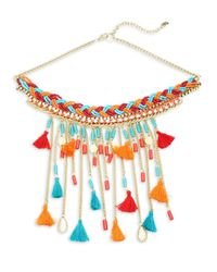 Saks Fifth Avenue - Multicolor Tasseled Statement Necklace - Lyst