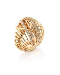 Alexis Bittar | Metallic Miss Havisham Crystal Accented Orbital Cocktail Ring | Lyst