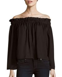 Lucca Couture | Black Solid Off-the-shoulder Top | Lyst
