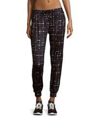 Prismsport | Black Printed Stretch Track Pants | Lyst