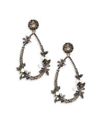Cara | Metallic Pear-shaped Drop Earrings | Lyst