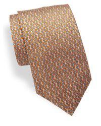 Brioni | Orange Printed Silk Tie for Men | Lyst