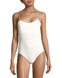 Tibi | White Stretch Kate Bodysuit | Lyst