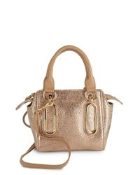 See By Chloé | Natural Paige Mini Leather Crossbody Bag | Lyst