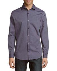 Calvin Klein   Blue Infinite Printed Classic-fit Dress Shirt for Men   Lyst