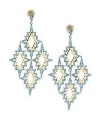 Noir Jewelry | Multicolor Turquoise Drop Earrings | Lyst