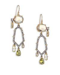 Alexis Bittar | Metallic Elements Light Citrine Hydro Quartz & Crystal Honeycomb Drop Earrings | Lyst