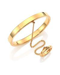 Chloé | Metallic Carly Hand-chain Bracelet | Lyst