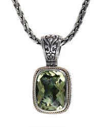 Effy - Metallic Balissima Sterling Silver With 18kt. Yellow Gold And Lemon Quartz Pendant - Lyst
