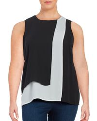 Vince Camuto   Black Sleeveless Popover Top   Lyst