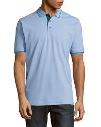 Robert Graham | Blue Classic-fit Cotton Polo for Men | Lyst