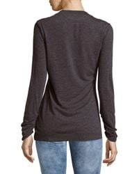 Vivienne Westwood | Gray Textured Ruched Top | Lyst