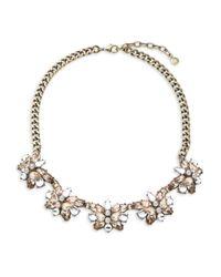 BaubleBar - Pink Floral Cluster Necklace - Lyst