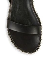 McQ - Black Metal-studded Leather Shoes - Lyst