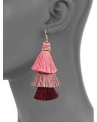 Panacea - Tiered Tassel Dangle & Drop Earrings - Lyst