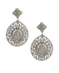 Bavna - Metallic Champagne Diamond & Sterling Silver Pave Earrings - Lyst