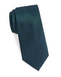 Saint Laurent - Green Basketweave Silk Tie for Men - Lyst
