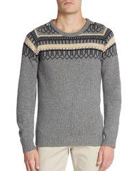 J.Lindeberg | Gray Finn Library Sweater for Men | Lyst