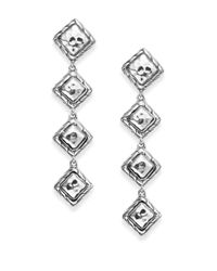 John Hardy | Metallic Four-dangle Sterling Silver Linear Drop Earrings | Lyst