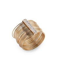 Kacey K Fine Jewelry | Metallic Diamond & 14k Gold Wire Ring | Lyst