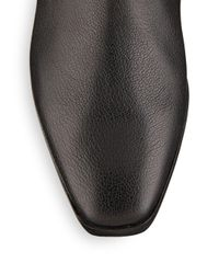 Nicole Miller Artelier - Black Stitched Leather Ankle Boots - Lyst
