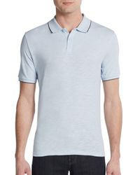 Saks Fifth Avenue | Blue Slim-fit Cotton Polo Shirt for Men | Lyst