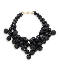 Kenneth Jay Lane - Multi-Row 22K Gold And Black Glitz Bead Necklace - Lyst
