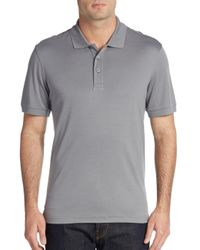 Saks Fifth Avenue | Gray Cotton Polo Shirt for Men | Lyst