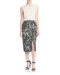 Jason Wu | Blue Beaded Pencil Skirt | Lyst