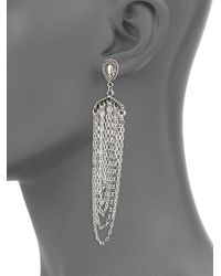 Panacea - Metallic Elegant Antique Drop Earrings - Lyst