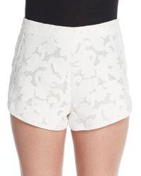 Rebecca Minkoff - White Cher Fil Coupe Shorts - Lyst