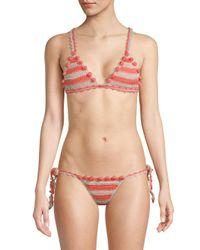 Tularosa - Multicolor Cora Crocheted Bikini Top - Lyst