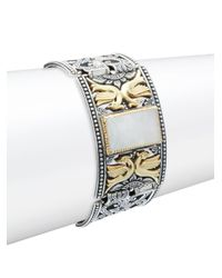 Konstantino - Metallic Labradorite, Sterling Silver & 18k Yellow Gold Bracelet - Lyst